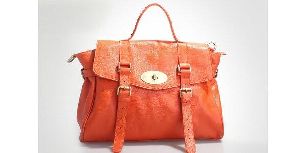 Dámská oranžová kabelka Belle & Bloom s ozdobnými pásky