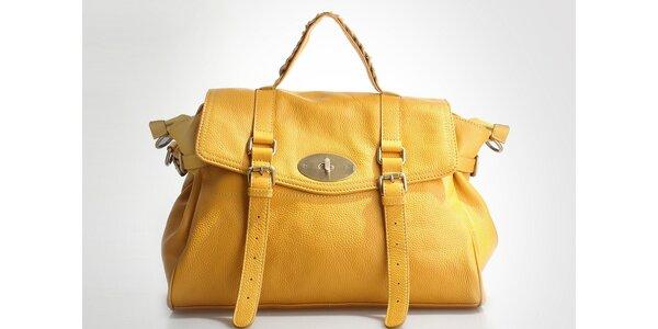 Dámská žlutá kabelka Belle & Bloom s ozdobnými pásky