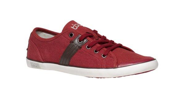 Pánské červené textilní tenisky TBS