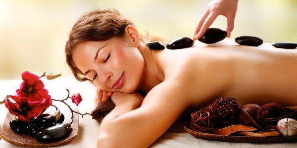 90minutová masáž celého těla lávovými kameny
