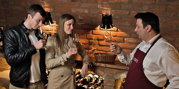 3 dny v Lednici: večeře ve sklípku a lahev vína