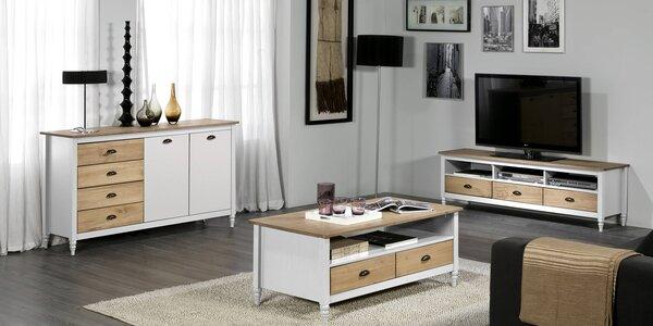 Dřevěný nábytek do obýváku ve stylu Provence