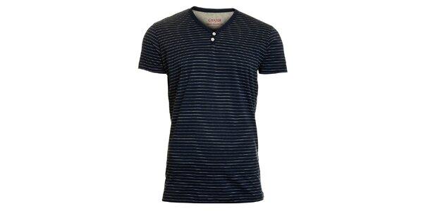 Pánské modro-šedé pruhované tričko Chaser