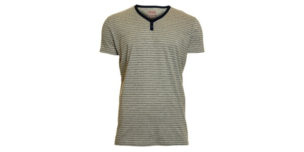 Pánské šedé pruhované tričko Chaser