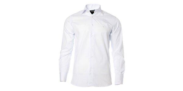 Pánská bílá košile s dlouhým rukávem Caramelo