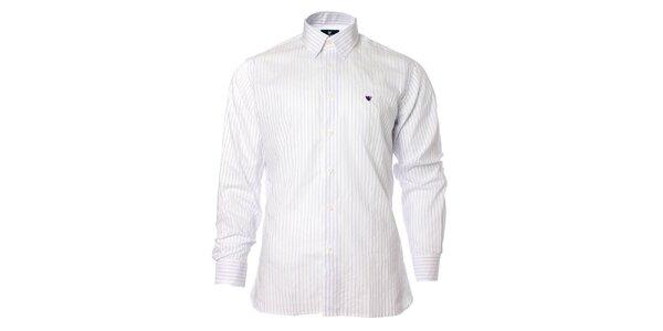 Pánská bílá košile s proužkem Caramelo