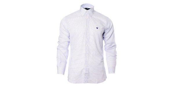 Pásnká fialovo-bílá kostkovaná košile Caramelo