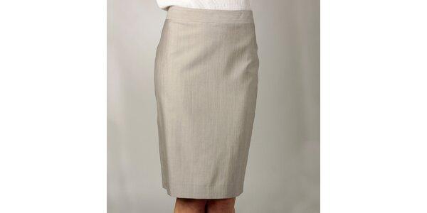Dámská úzká béžová sukně Caramelo