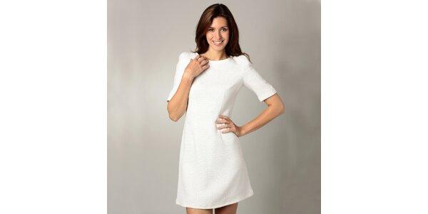 Dámské bílé šaty s 3/4 rukávy Caramelo
