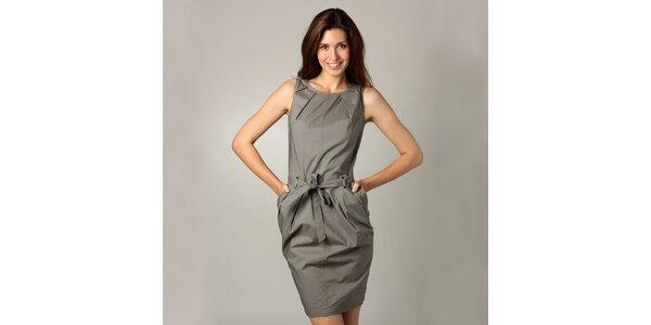 Dámské ocelově šedé šaty Caramelo