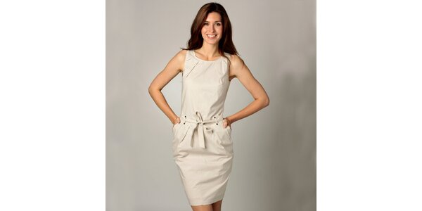 Dámské krémově šaty Caramelo