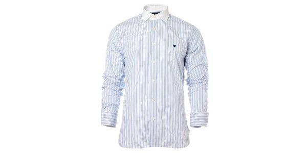Pánská modro-bílá proužkovaná košile Caramelo