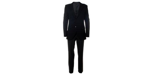 Pánský černý oblek Caramelo