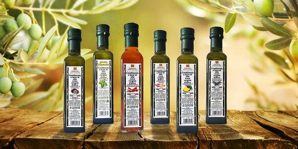 Extra panenské aromatizované oleje z olivovníků