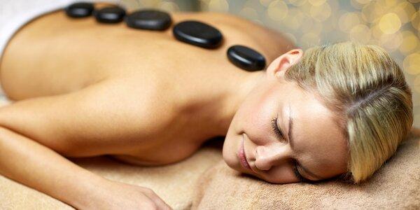 Královská masáž celého těla lávovými kameny