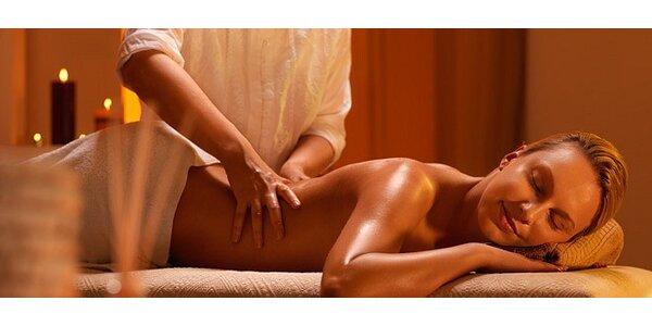 Léčebná masáž zad a šíje