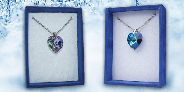 Stříbrné náhrdelníky s přívěsky Swarovski Elements