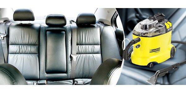 Tepování interiéru auta mokrou nebo suchou cestou (4-5 h.)