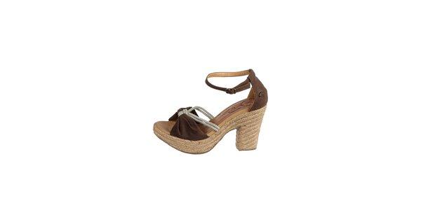 Dámské tmavě hnědé sandály Drastik