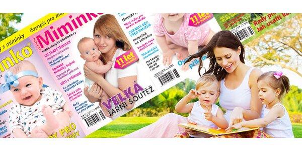 Roční předplatné časopisu Miminko + dárek