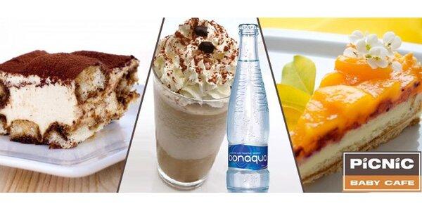 49 Kč za frappé origin, vodu a sladký zákusek v Picnic cafe v centru Plzně!