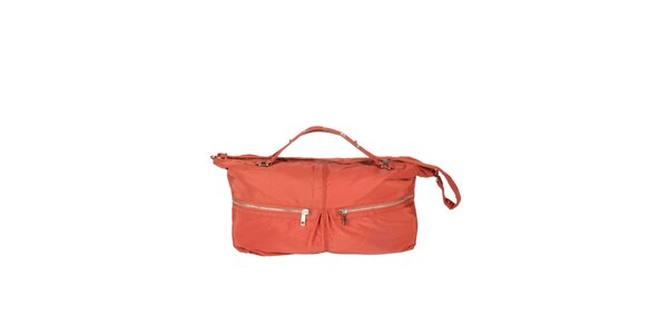 Dámská oranžová kabelka se dvěma zipy Marina Galanti