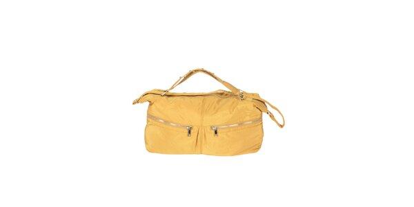 Dámská žlutá kabelka se dvěma zipy Marina Galanti