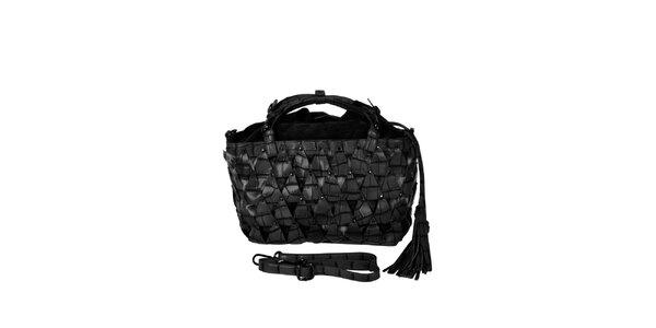 Dámská černá kabelka s efektním vzorem Marina Galanti