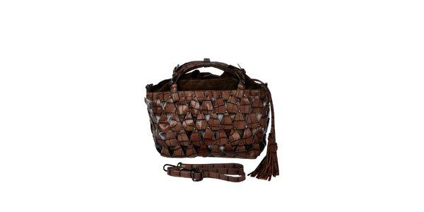 Dámská hnědá kabelka s efektním vzorem Marina Galanti