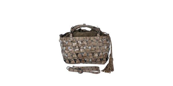 Dámská hnědo-šedá kabelka s efektním vzorem Marina Galanti