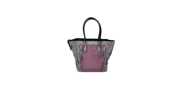 Dámská šedo-vínová kabelka s potiskem Marina Galanti