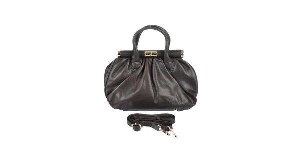 Dámská hnědá retro kabelka se zlatými prvky Marina Galanti
