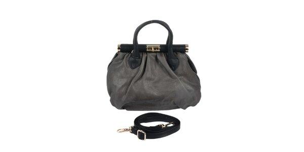 Dámská šedá retro kabelka se zlatými prvky Marina Galanti