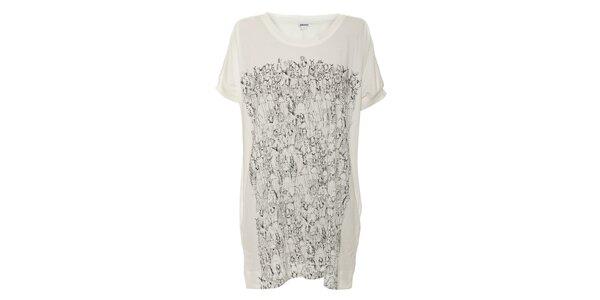 Maxi tričko na spaní v krémové barvě DKNY