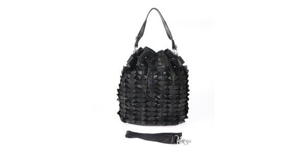 Dámská černá kabelka se stahovací šňůrkou Marina Galanti