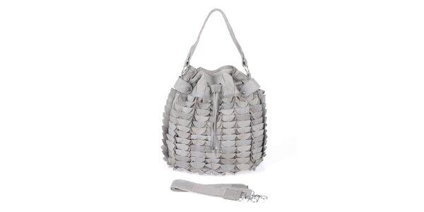 Dámská šedá kabelka se stahovací šňůrkou Marina Galanti