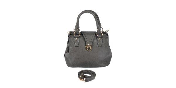 Dámská šedá kabelka se zlatými detaily Marina Galanti