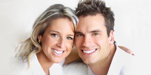 Profesionální bělení zubů speciálním gelem