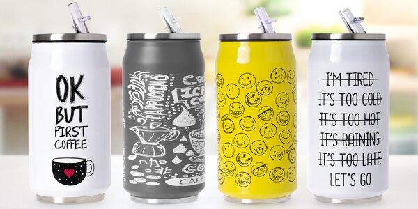 Nerezové termohrnky s brčkem: cool design, skvělá izolace, dlouhé udržení tepla