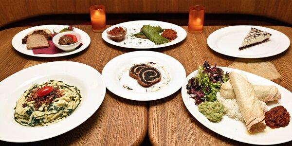 Vegetariánské menu pro dva v restauraci Maitrea