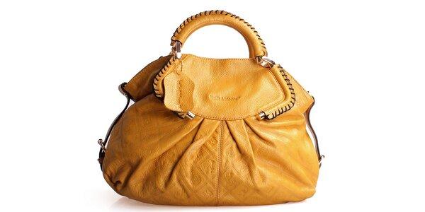Dámská žlutá kabelka Belle & Bloom s ozdobným řasením