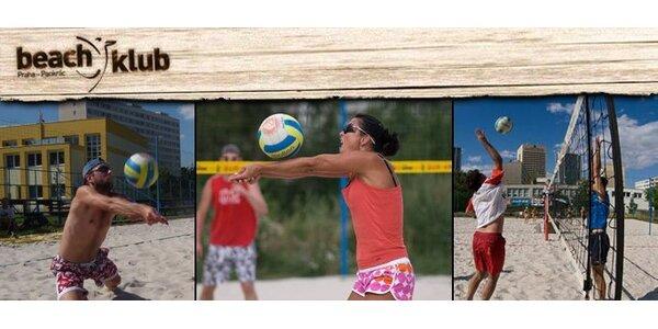 139 Kč za hodinový pronájem profi beach volejbalového kurtu na Pankráci!