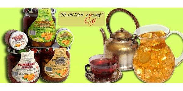 288 Kč za velké plato babiččiných pečených ovocných čajů.