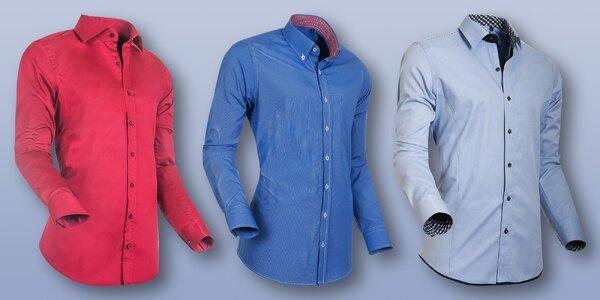 Pánské jednobarevné košile Styleover
