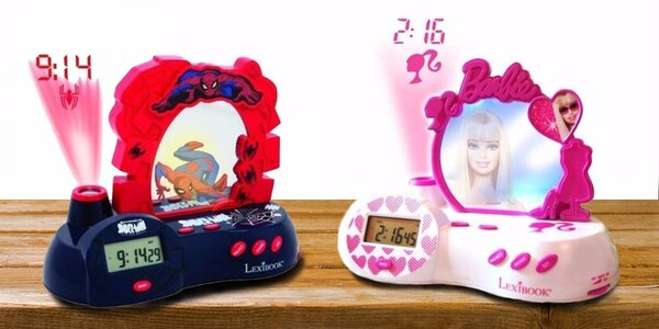 Radiobudík s projektorem Spiderman nebo Barbie