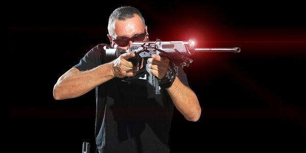 Hodinový pronájem laserové střelnice pro 2–4 hráče