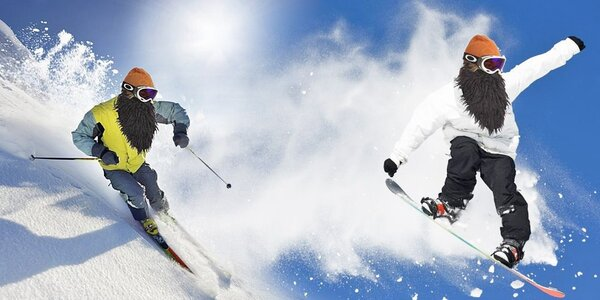 Stylové lyžařské a snowboardové masky Beardski