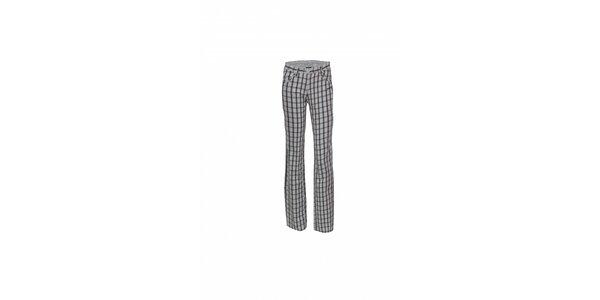 Dámské černobílé kostkované kalhoty Envy