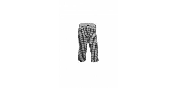 Dámské černobílé kostkované capri kalhoty Envy