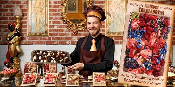 Valentýnské potěšení: Ručně vyráběné čokolády s věnováním